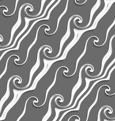 White and gray curved lines and swirls seamless vector