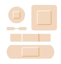 Adhesive bandages set vector