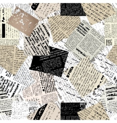 Collage of patches newspaper vector