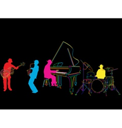 Jazz band sketch vector