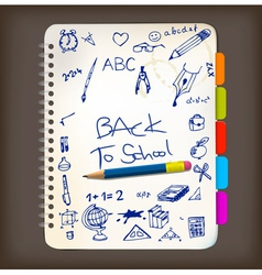 back to school doodle vector image