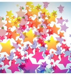Abstract colorful star background vector