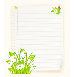 Spring green paper board vector