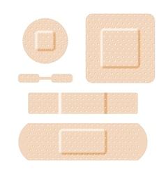 Adhesive bandages set vector