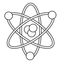 atom science symbol vector image