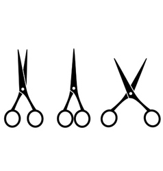 black isolated cutting scissors vector image vector image