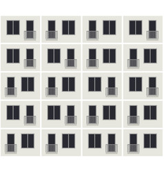 Building facade pattern vector