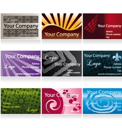 Business cards set II vector image vector image