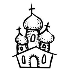 Cartoon image of church icon religion symbol vector