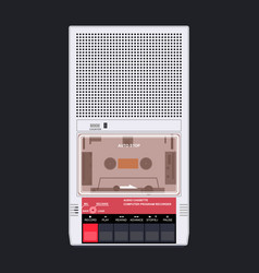 Cassette player 80s 90s vector