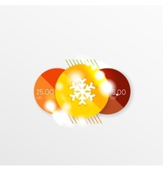 Christmas label or price tag sticker vector image