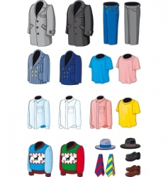 collection outerwear vector image