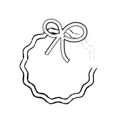 Decorative circle emblem vector