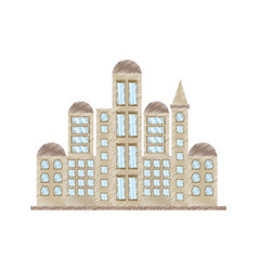 Drawing building government office vector