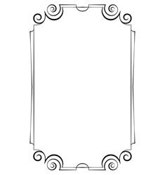Elegant vertical frame on a white background vector image vector image