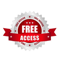 Free access button vector image vector image
