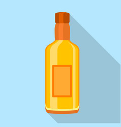 Glass cognac vodka bottle icon flat style vector