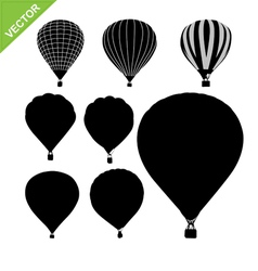 Hot air balloon silhouettes vector