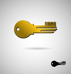 Key to apartment logo symbol for construction and vector