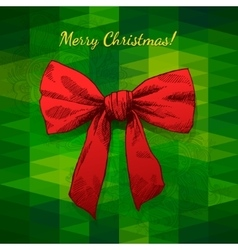 Merry christmas hand drawn bow vector