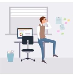 modern flat character design on businessman vector image vector image