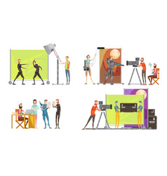 Movie making concept vector