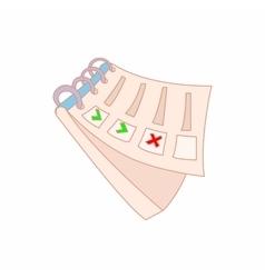 Notepad icon cartoon style vector image