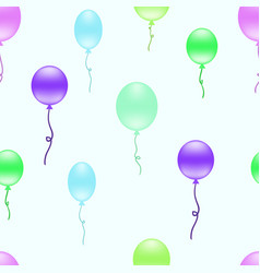 Repeating pattern with colorful balloons vector