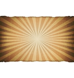 Rip white paper with sunburst old background vector