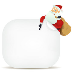 Santas pointing blank sign vector