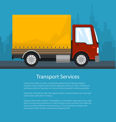 Shipping and freight of goods poster design vector