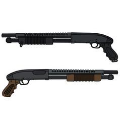 Short pump shotguns vector