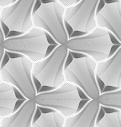 Slim gray hatched trefoil flower vector image vector image