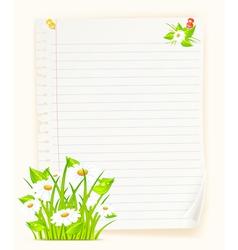 spring green paper board vector image vector image