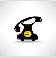 taxi sign call taxi icon retro handset with vector image