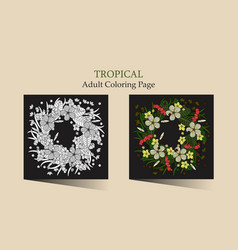 tropic vector image