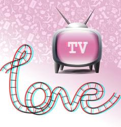 Love television symbols vector image