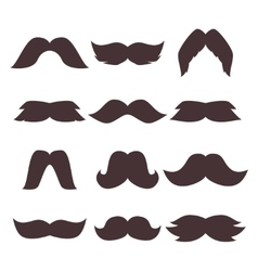 Face accessory party set fun mustache hipster vector