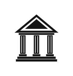 Colonnade icon simple style vector
