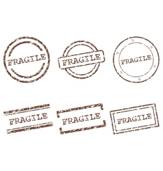 Fragile stamps vector