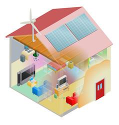 Green energy house vector