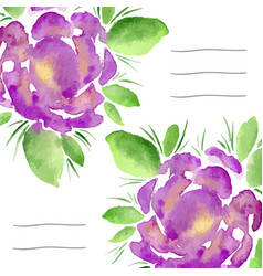Invitation cards with watercolor blooming peonies vector