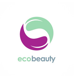 circle eco beauty logo vector image