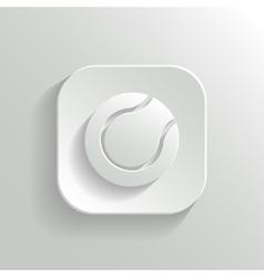 Tennis icon - white app button vector