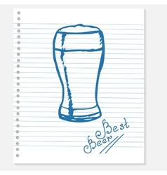 Sketch of a beer vector