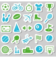 Sport stickers vector