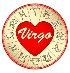 Zodiac sign virgo for lovers on valentine vector