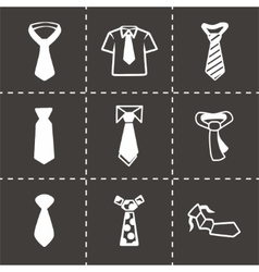 Tie icon set vector