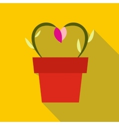 Flowers in a pot icon vector
