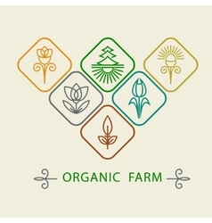 Logo design template agriculture and organic farm vector